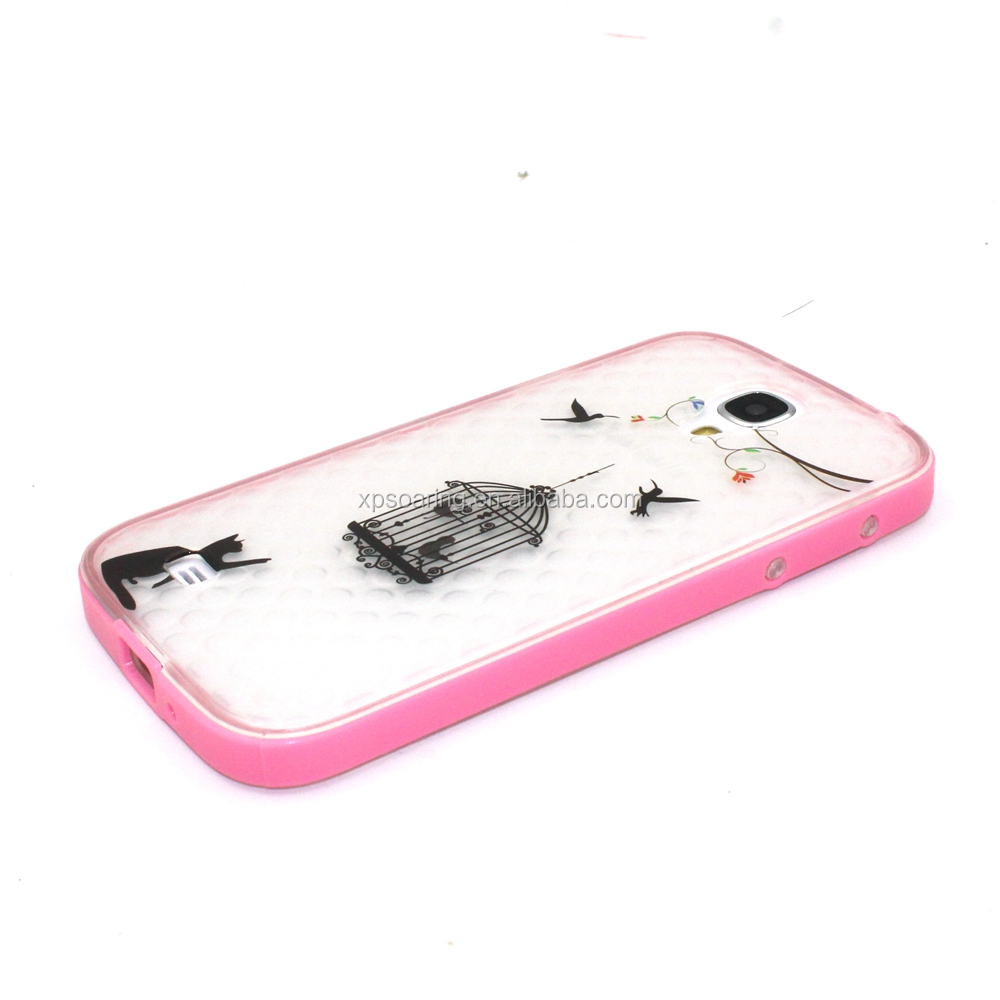 printing TPU pc cell phone for samsung galaxy S4 cover case