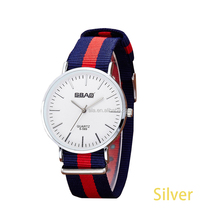 Stainless steel buckle Quartz Watch Fashion Classical Nylon Men Wrist Watch