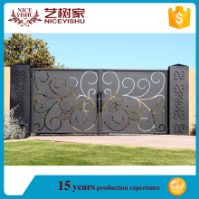 Cheap Italian automatic sliding villa laser cut Metal Art Driveway gates, gate design drawings, sample of house gates