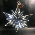 2017 unique crystal glass snowflake for Christmas ornament