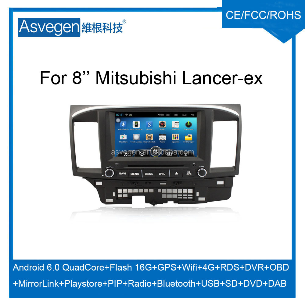 Wholesale Android Car DVD Player For 8'' Mitsubishi Lancer-EX Support Radio Wifi Playstore With Auto Spare Parts Car
