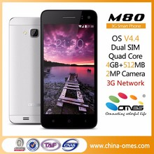 "Low Cost Entry Level OEM M80 4.5"" 4.5 inch 3G smart phone mtk6582 quad core"