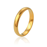 11216 latest 24k gold rings without stones for women men wedding bands