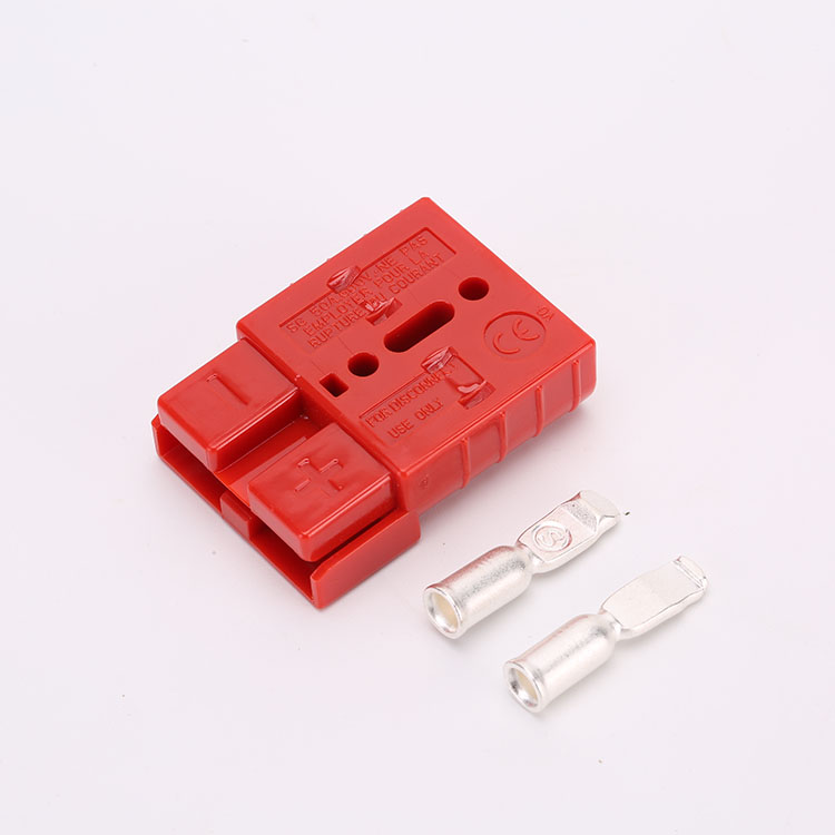 Bipolar two <strong>holes</strong> 50A DC battery charger power connector plug with 6/8/10awg Terminal male and female connector