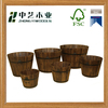 New arrival antique handmade 6 piece garden wooden whiskey barrels planter pot