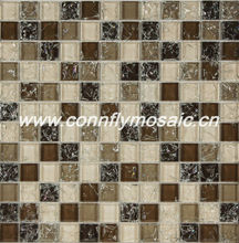 2012 Popular Brown Clear Ice Cracked Mosaic