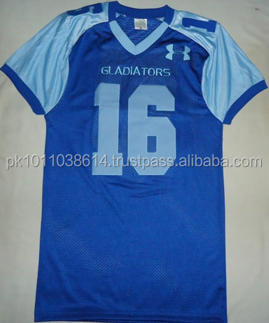100% polyester custom sublimation football jersey 5xl custom american football jerseys