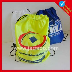 Professional promotional nylon yellow drawstring bags