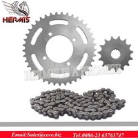 motorcycle transmission parts pop100 35/14T 428H-106L motorcycle chain and sprocket kits