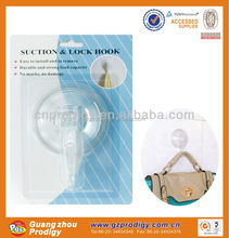 large loading wall hook suction cup clear /suction hook with lock