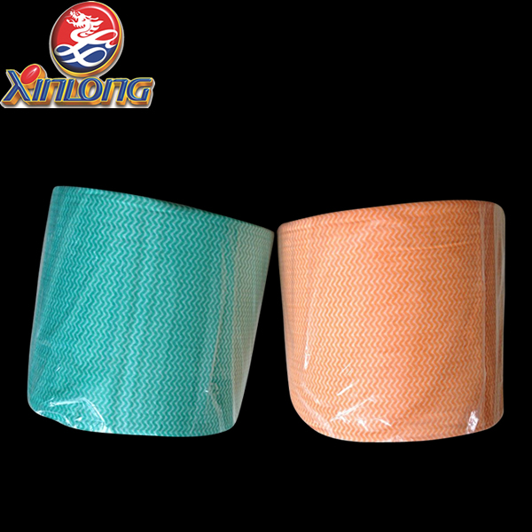 [XINLONG]kitchen tissue roll / spunlace non-woven nonwoven cloth wipes in roll