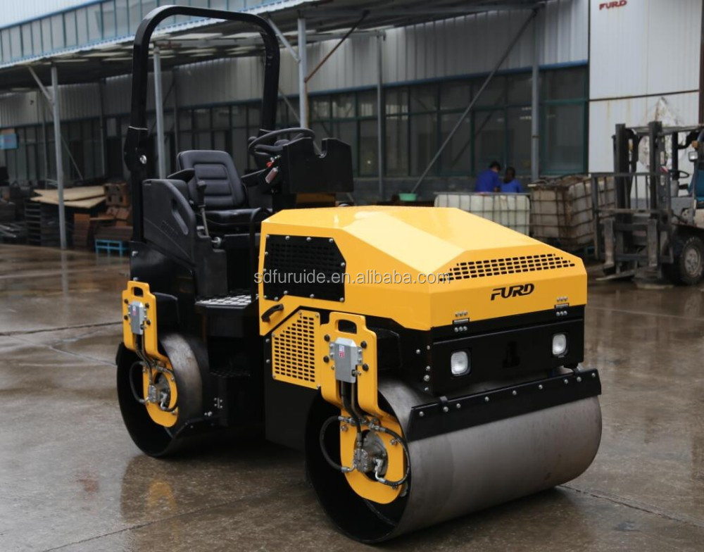 3 ton double drum road roller with plastic water tank (FYL-1200)