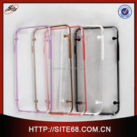 Hot selling PC and four dot and glow in the dark TPU frame design case for iphone6