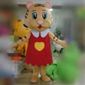 Hola red tiger mascot costume/cute masccot costume for sale