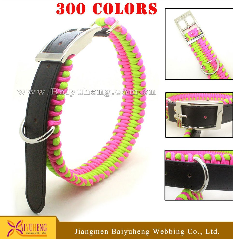braided leather dog collar,dog leash leather
