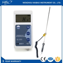 LCD display digital food / meat thermometer with sharp head 16cm K type probe