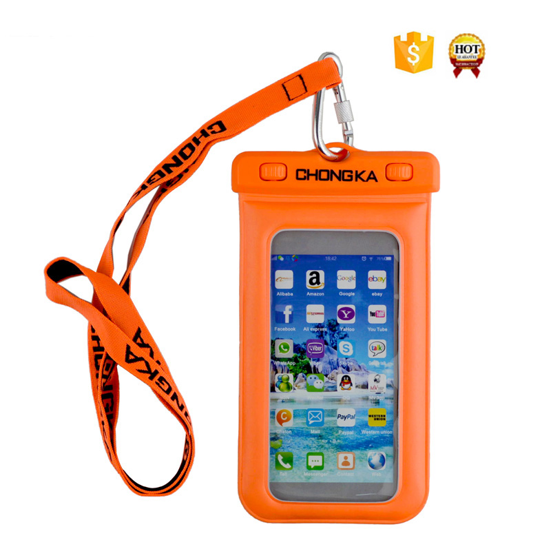 cheap price colorful Waterproof Case Dry Bag with Military Class Lanyard for galaxy a5