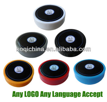 Button to call the waiter K-D1 call buttons staff Any LOGO any language accept