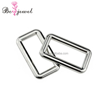 Wholesale 35MM Custom Hardware Square Buckles Nickel Metal Adjustable Buckle For Lady Handbag Accessories Bag Belt Slider