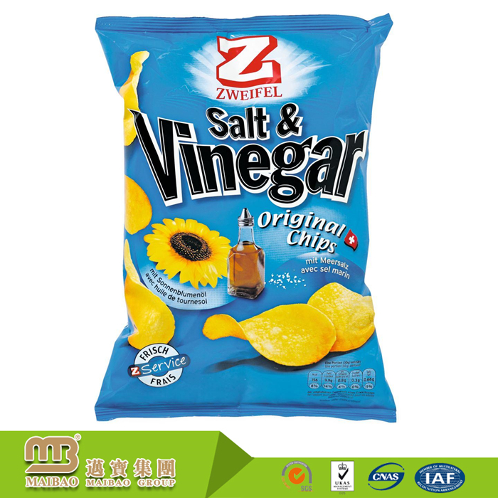 High Barrier Food Grade Snacks Packing Custom Printing Laminated Aluminum Foil Plastic Bags For Potato Chips