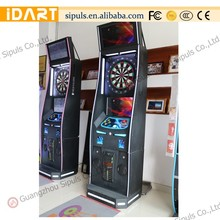 High quality darts playing coin operated board games machine with plastic pins