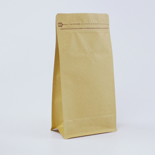 waterproof kraft paper food zipper storage packaging bags with for coffee beans