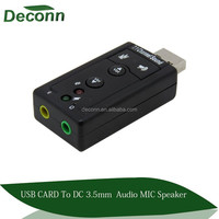 7.1 Channel USB External Sound Card Audio Adapter USB 2.0 Audio Sound Card