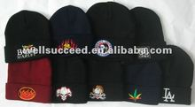 acrylic beanies,knitted hats,embroidered logo beanies