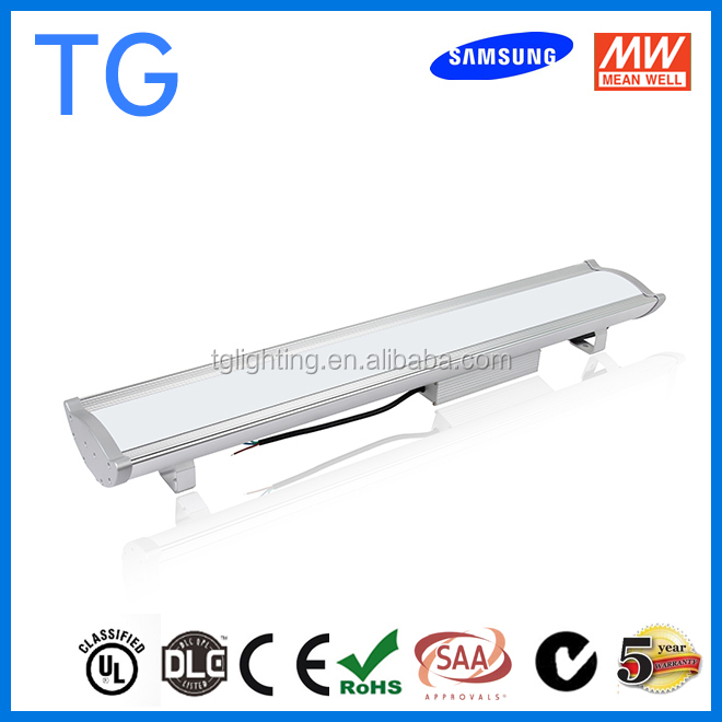 80W ul ceiling led linear light for garage car washing tunnel warehouse