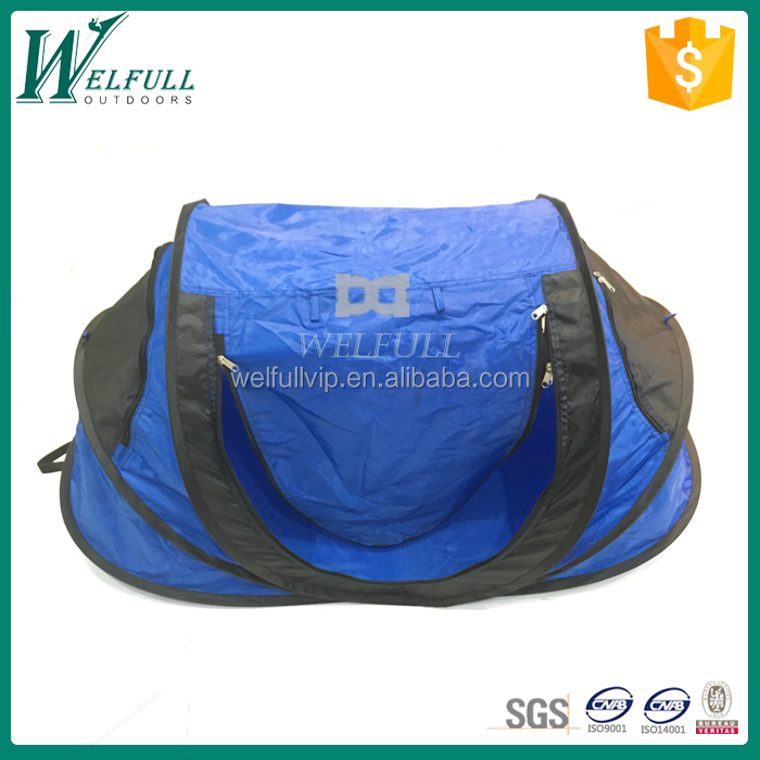 Blue portable baby beach pop up tent