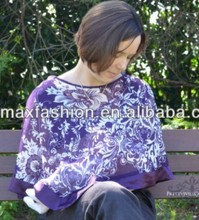 Loose breastfeeding blouse / breastfeeding clothing / nipple cover wear made by China