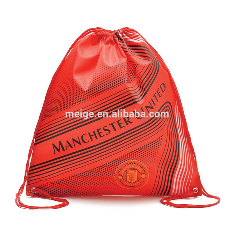 promotion and gift Custom nylon Polyester Drawstring Sports Bag