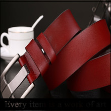 High quality Male leather belt buckle Korean version leather man belt
