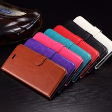 2016 For iPhone 7 Leather Wallet Flip Case Cover Brown Black Blue
