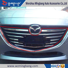 Exterior Decoration Car Accessory Chrome Cover Bumper Front Grille Trim for Mazda 3 Axela 2014