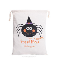 A swarm of cute spiders is approaching 2016 NEW style Halloween Drawstring Gift Bag.