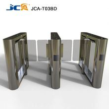 High Speed access control turnstile flap barrier gate with RFID reader