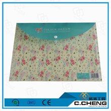 plastic folder with button / file decoration with school file