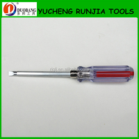 Magnetic screwdriver with Transparent handle and CRV steel blade T