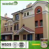 Exterior wall rich colour spray non stick coating