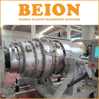PE pipe plastic extrusion line / HDPE pipe extruding making machine
