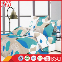 Wholesale bright colorful microfiber comforter set,washable flax bed sheet set for home using