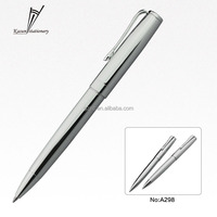 Silver metal pen promotional ball twist pen for advertising product