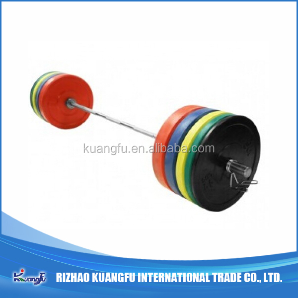 Fitness Barbell and Bumper Plates
