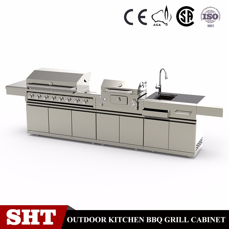 Commercial kitchen used restaurant indoor rotating charcoal and gas barbecue grill machine