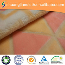 changshu high quality printed cutting pile flannel fleece fabric