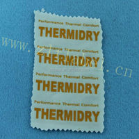 heat transfer neck label for nylon bed sheets