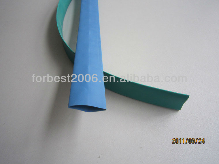 green color thin wall polyolefin heat shrink tube hose