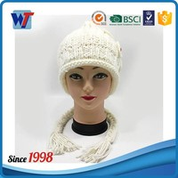 wooly beanie hat cute ladies beanie hats for girls with pom winter hats
