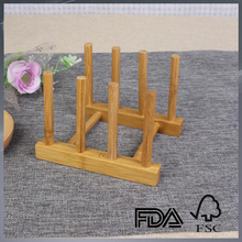 natural bamboo small dish rack bamboo dish display stand bamboo dish rack
